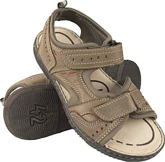 Zerimar Mens Sandals | Mens Trekking Sandals | Sandals Man Hiking | Mens Leather Sandals | Men Summer Sandals Grey