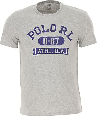 Ralph Lauren T-Shirt Uomo On Sale, Grigio, Cotone, 2019, L S XXL