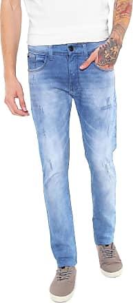Hawaiian Dreams Calça Jeans HD Slim Desgastes Azul