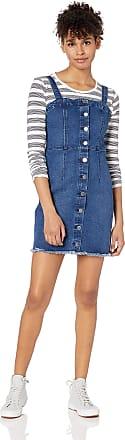Volcom Womens Vol Stone Button Up Denim Dress Casual, Harbor Blue, Small