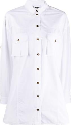 Ganni Camisa com botões - Branco