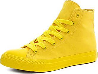 Marimo Klassische Unisex Damen Herren Schuhe Low High Top Sneaker  Turnschuhe Gelb 37 d4769f334d