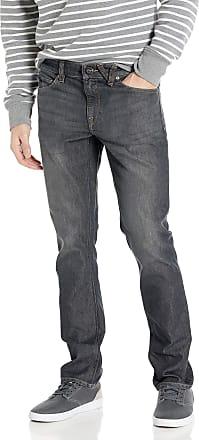 Volcom Mens Vorta Denim Jeans, Bullet Grey Wash, 30W x 32L