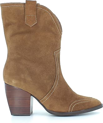Wonders M-4106 Womens Cowboy Boots with Heel, Leather Brown Size: 8.5 UK