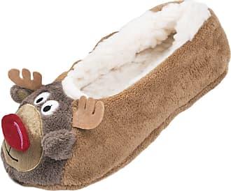 Lora Dora Ladies Christmas Slipper Socks Reindeer S-M