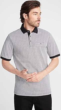 Le 31 Liquid cotton geo-pattern polo