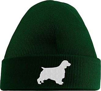 HippoWarehouse Springer Spaniel Logo Embroidered Beanie Hat Bottle Green