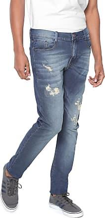 Hawaiian Dreams Calça Jeans HD Slim Destroyed Azul