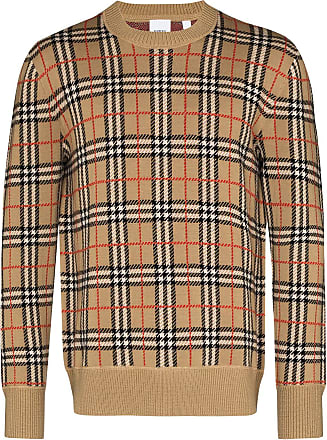 Burberry Suéter de lã merino xadrez vintage Fletcher - Marrom