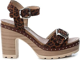 Refresh Womens Sandal with 8 cm Heel with Buckle Closure - for: Women Brown Size: 4 UK