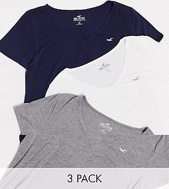 Hollister T-Shirt mit V-Ausschnitt im 3er-Pack-Mehrfarbig