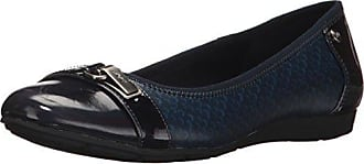 Anne Klein AK Sport Womens ABLE Fabric Ballet Flat, Navy Black/Multi, 5 M US