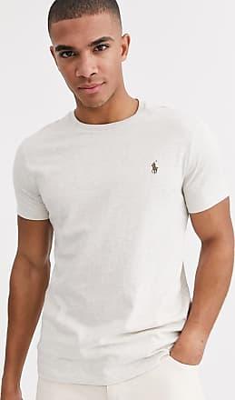 Polo Ralph Lauren T-shirt beige mélange con logo