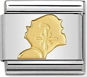 Acotis Limited Nomination Composable Classic Country Symbols 18K Gold Studex Link 030
