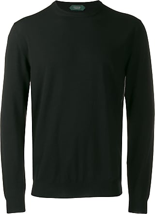 Zanone crew-neck knit sweater - Black
