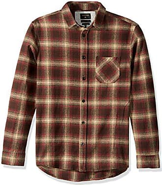 Quiksilver Mens Fatherfly Flannel Shirt, Chocolate, M