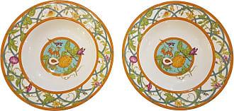 Hermès Siesta Island Porcelain Set Of Two Soup Plates, Modern
