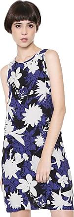 Triton Vestido Triton Curto Estampado Azul-marinho/Branco