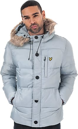 Lyle & Scott Lyle and Scott Mens Wadded Hooded Bomber Jacket - XXL Light Silver