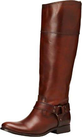 d633392f490af Frye Womens Melissa Harness InSide-Zip Boot, Redwood Smooth Vintage Leather  Wide Calf,