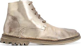 Marsèll Ankle boot metálica com cadarço - Dourado