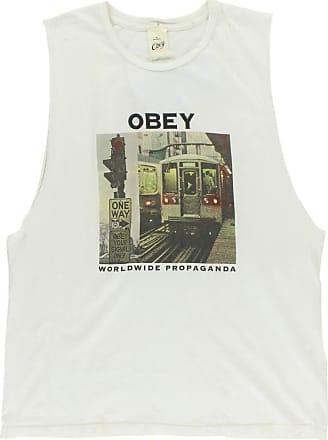 Obey Women, Your Signal Moto Tank Wo s, Tank Tops, White - White - XS