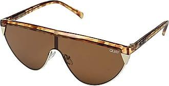 Quay Eyeware Goldie (Orange Tortoise/Brown) Fashion Sunglasses