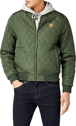 Urban Classics Mens Diamond Quilt Nylon Jacket, Green (olive 176), L