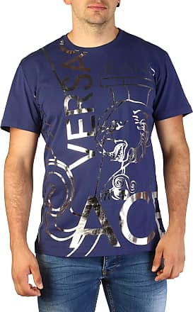 Versace Jeans Couture Men Blue T-Shirts - Blue - Medium