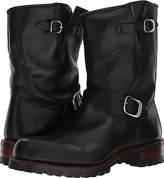 127c28ac6502 Frye Addison Lug Engineer (Black Smooth Pull Up) Mens Pull-on Boots