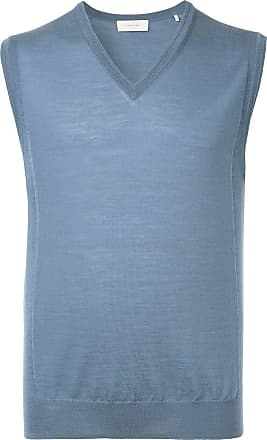 Cerruti sleeveless fitted sweater - Blue