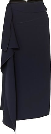 Roland Mouret Kelley Draped Crepe Midi Skirt - Navy