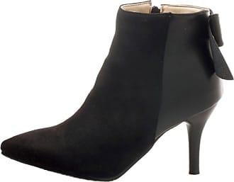 RAZAMAZA Women Sweet Bowknot Thin Heel Dress Bootie Zipper Shoes Black Size 33 Asian
