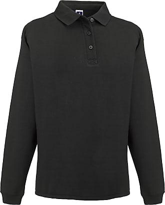 Russell Athletic Russell Europe Mens Heavy Duty Collar Sweatshirt (2XL) (Black)