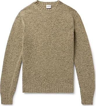 Aspesi Slim-fit Mélange Slub Wool Sweater - Sage green