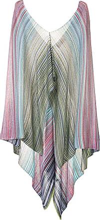 Missoni Poncho drapeado com listras - Estampado