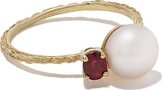 Wouters & Hendrix 18kt yellow gold UZERAI Exclusive Pearl & Ruby ring