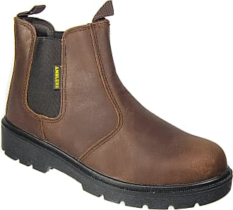 bbf083a1c37639 Amblers Mens Amblers Brown Leather Dealer Safety Toe Cap Work Boots Sizes 6  to 15 (