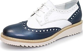 Lunar Ladies Embry Leather Brogue 5 UK Navy