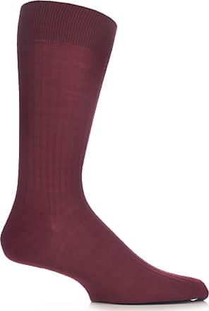 Pantherella Laburnum Merino Wool Men/'s Sock Luxury Wine Sz S UK 6-7
