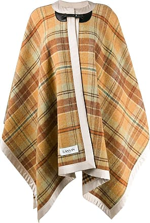 Lanvin check print cape - NEUTRALS
