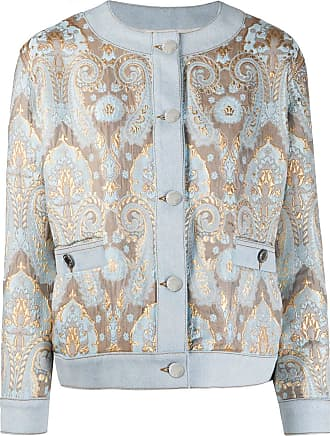 Sandro brocade denim panel jacket - Blue