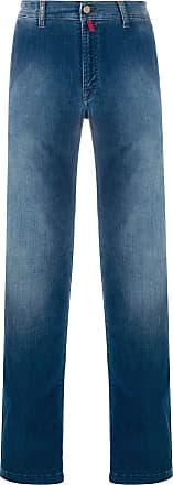 Kiton stonewashed straight-leg jeans - Blue