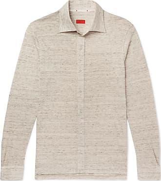 Isaia Mélange Slub Linen Shirt - Sand