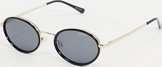 Quay Line Up round sunglasses in black and gold