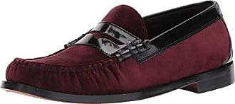 G.H. Bass & Co. Mens Larson Loafer, Burgundy Velvet, 8.5 D US