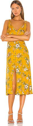 Rebecca Taylor Lita Tie Dress in Yellow