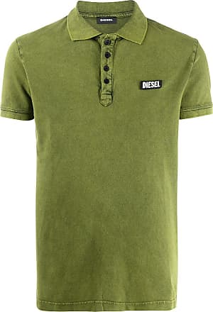 Diesel Camisa polo mangas curtas com logo - Verde