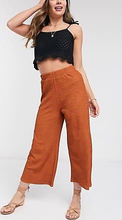 Asos textured culotte trouser in rust-Multi