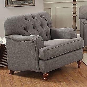 ACME 53692 Alianza Chair, Dark Gray Fabric